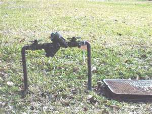 Backflow by meter box
